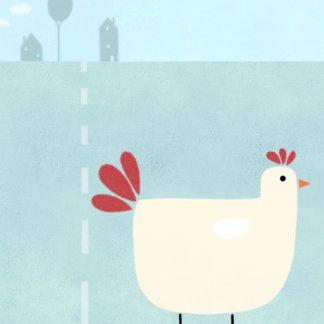 """Chicken on Farm Poster Print"""