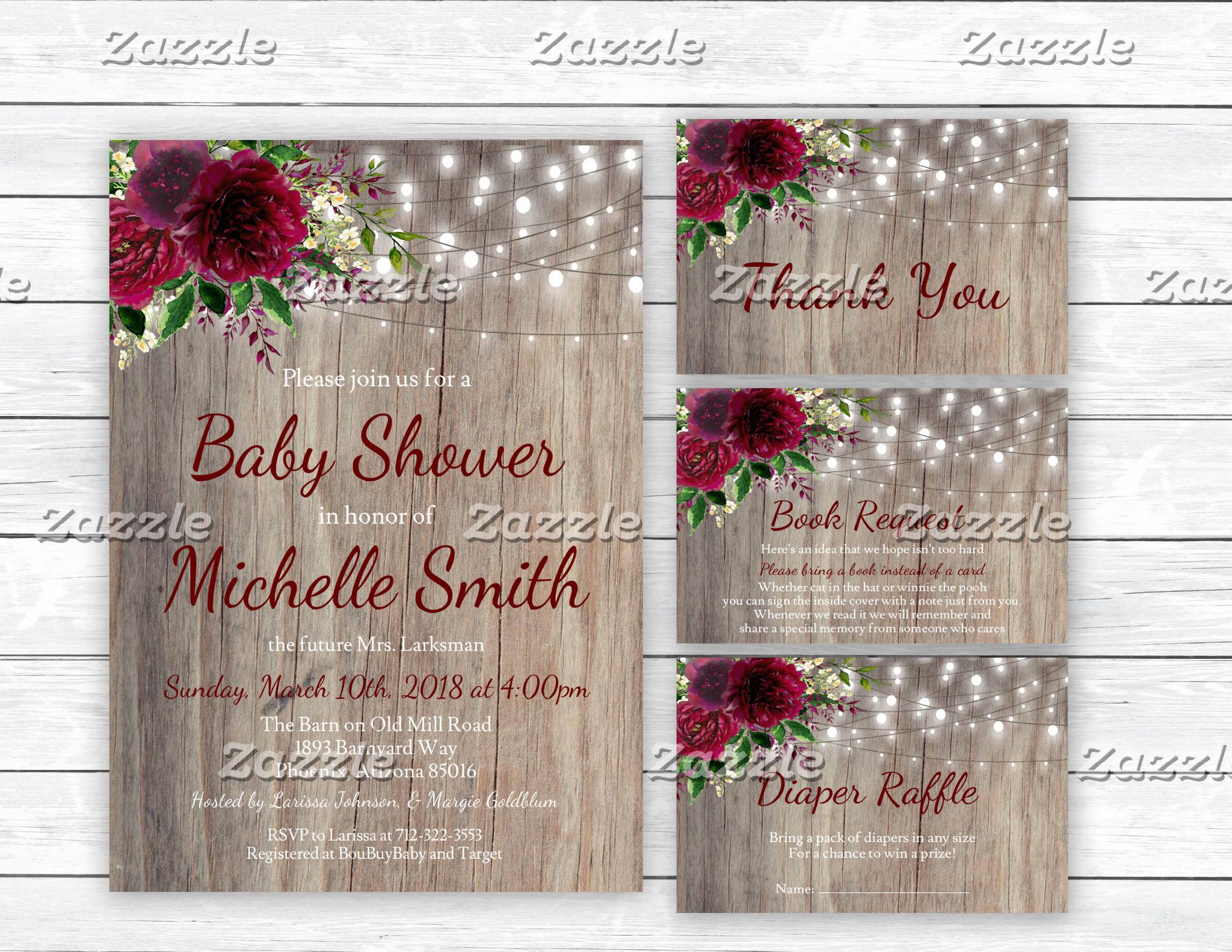 Burgundy Marsala Rustic Collection