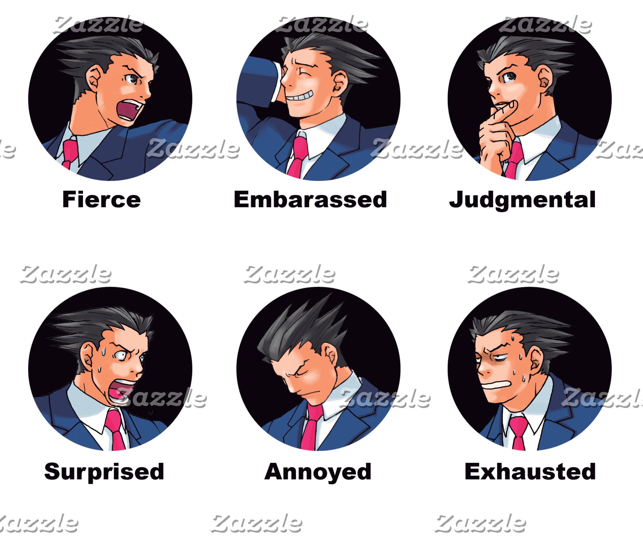 Phoenix Wright Emoticons