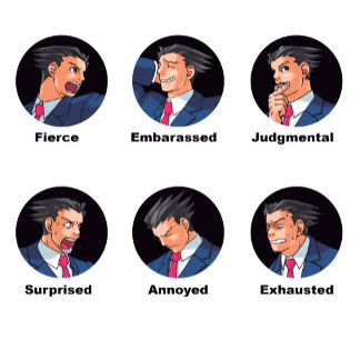 Phoenix Wright Emoticons
