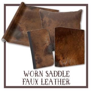 Worn Saddle Faux Leather