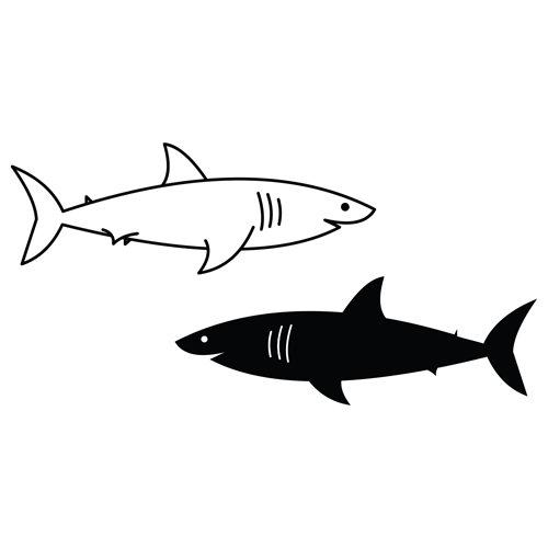 Black and White Sharks
