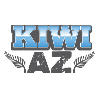 Kiwi az in blue and silver