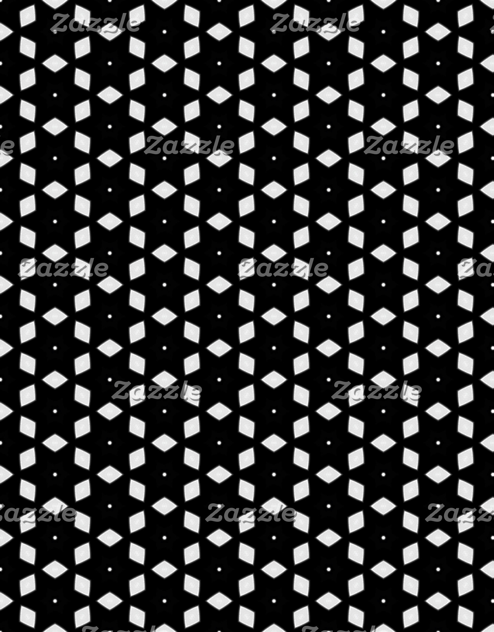 Black and White Patterns | Diamonds and Stars I
