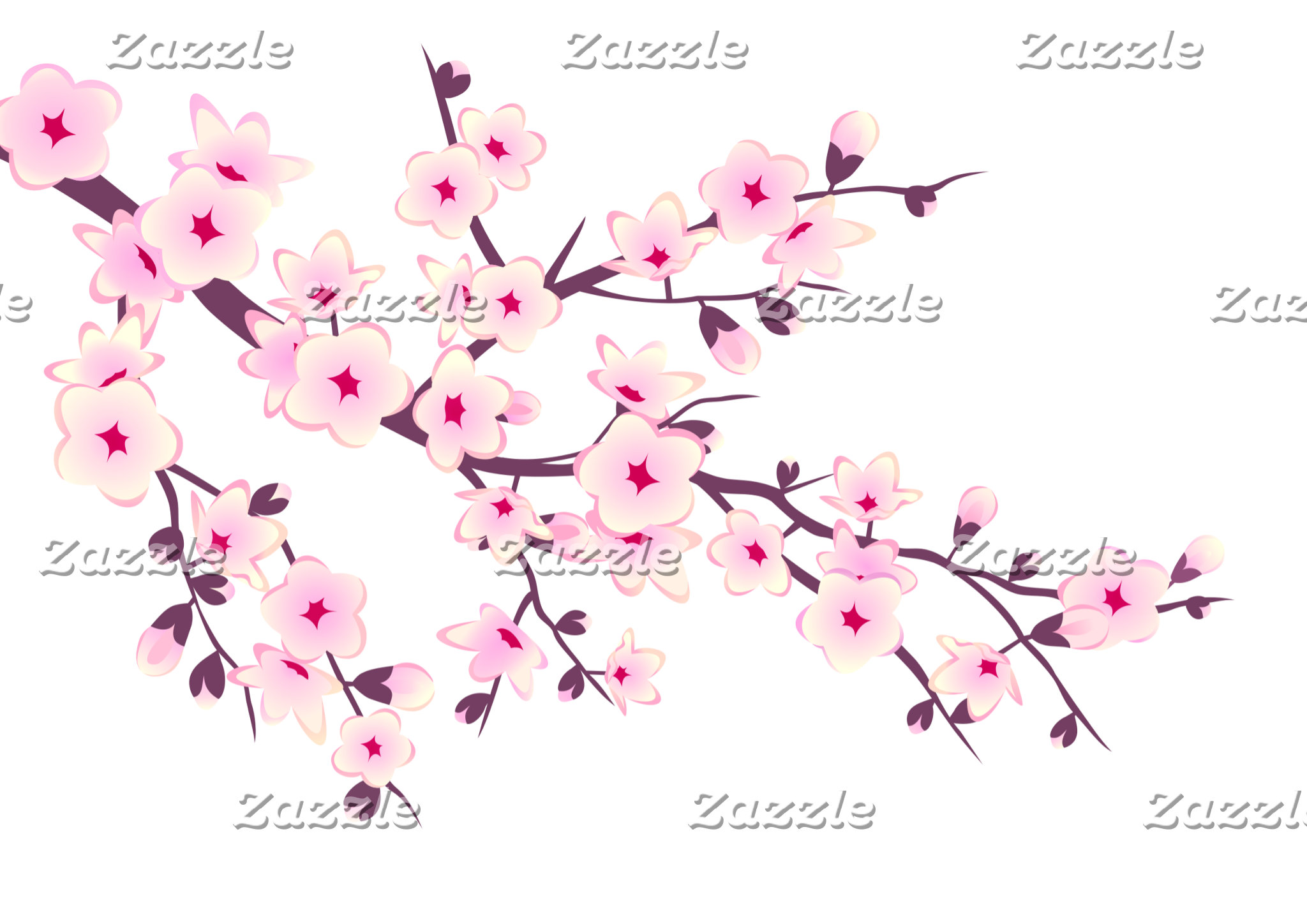 Wedding Pink White Cherry Blossoms