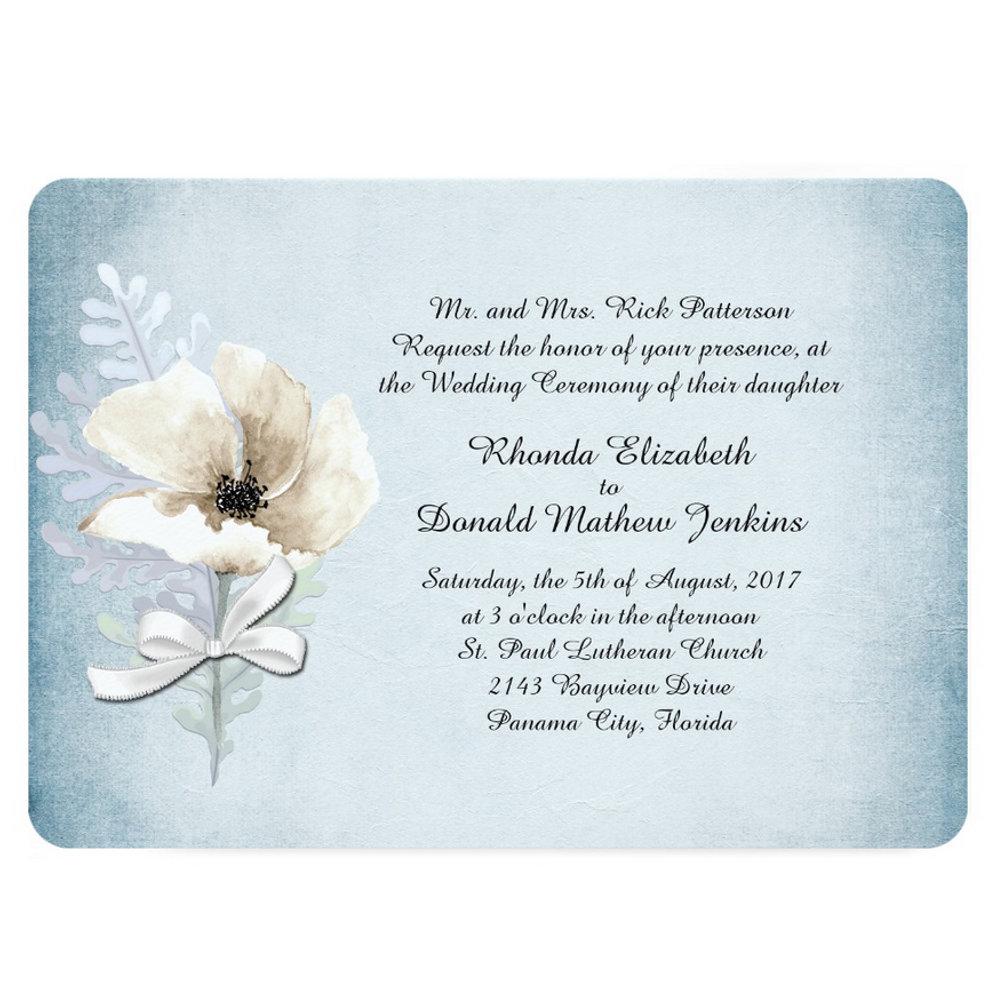 Winter White Poppy Wedding Suite