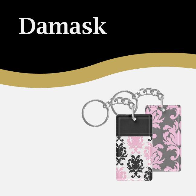 Damask Keychains