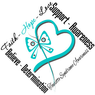 Faith Hope Love Butterfly Tourette Syndrome