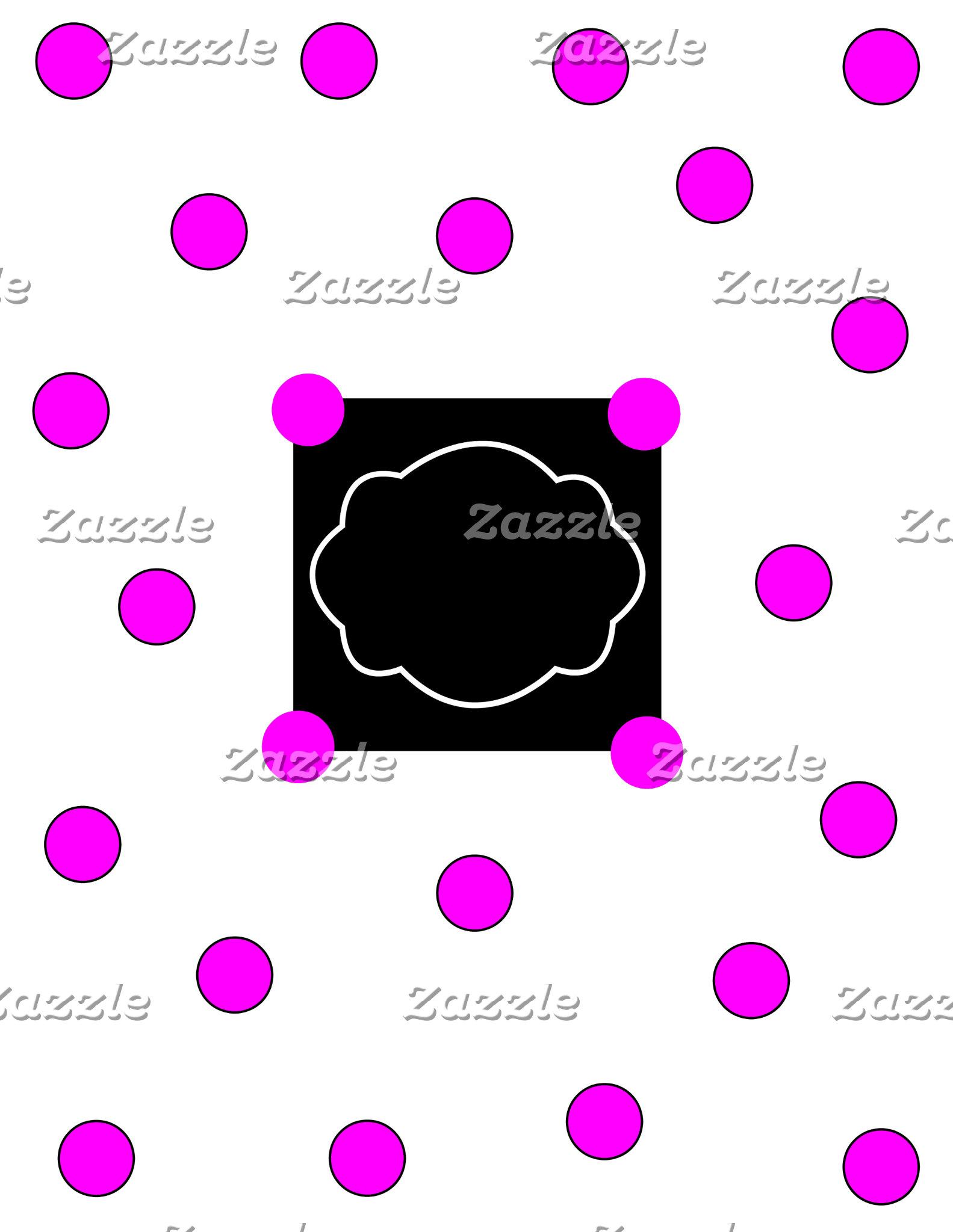 Pink Polka Dot Office Set