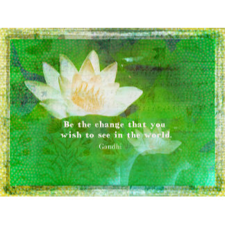 Change Quote WHITE LOTUS FLOWER