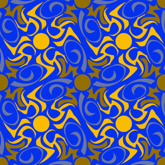 Blue and Golden Vector Seamless Pattern
