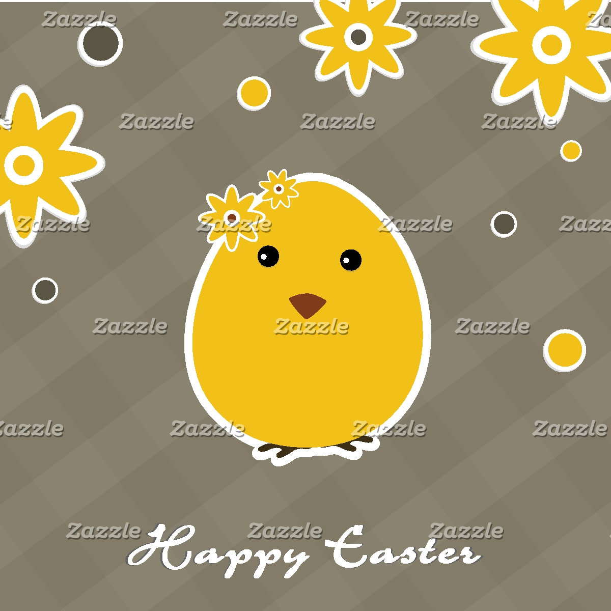 Vintage Happy Easter background