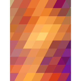 Geometric Patterns | Orange Parallelograms