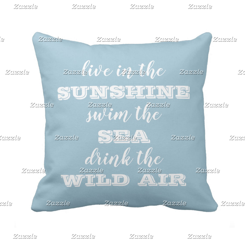 Typography Throw Pillows