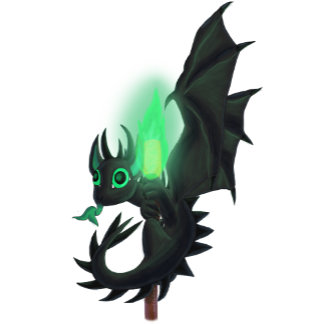 Dragon With Green Fire