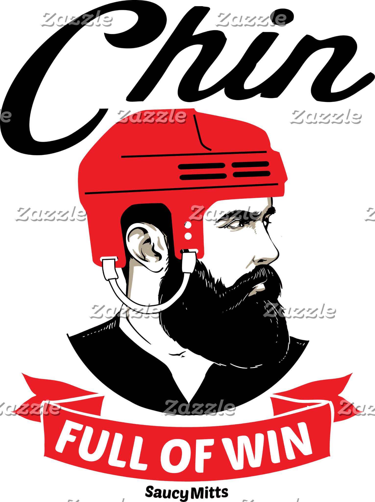 Hockey Chin Full Of Win