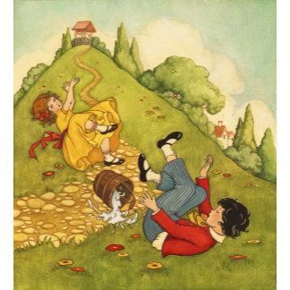 """Jack & Jill Nursery Rhyme Poster Print"""