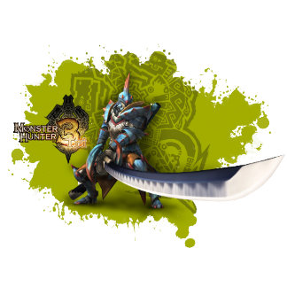 Male hunter with long sword & lagiacrus armor