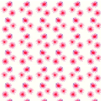 Floral pink watercolor pattern