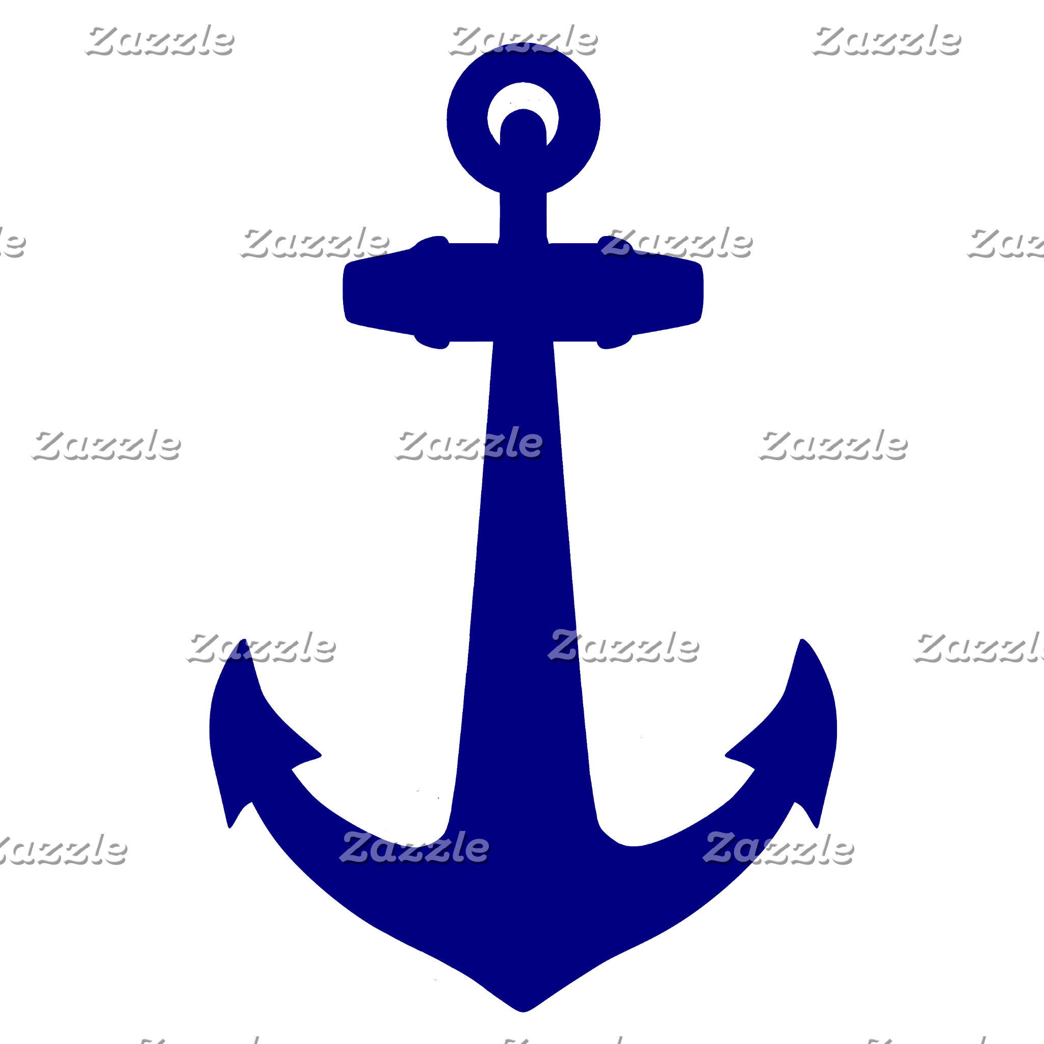 Navy Blue On White Coastal Decor
