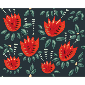Abstract tulips pattern