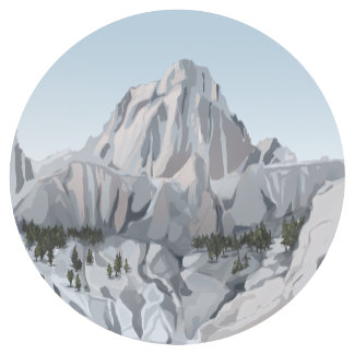 Round Illustrations II: American Mountains