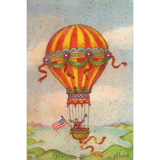 """Hot Air Balloon Poster Print"" 2"