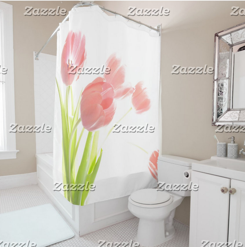 Shower Curtain,Soap Toothbrush,Bathmat, Scale