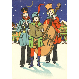 Christmas Musicians Caroling