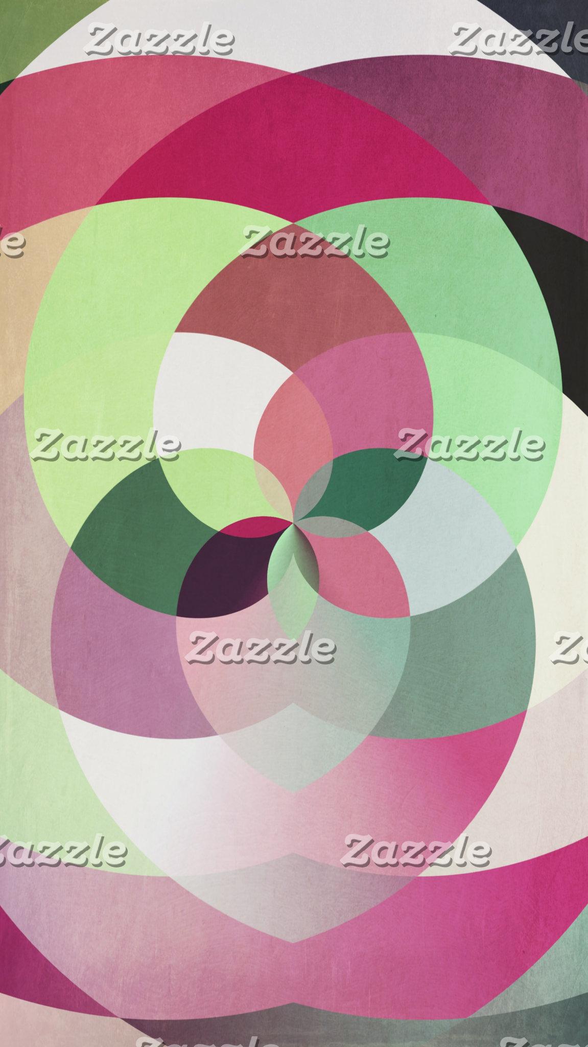 Geometric Kaleidoscope Design in Multiple Colors