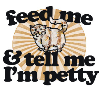 Feed me and tell me I'm pretty fat cat