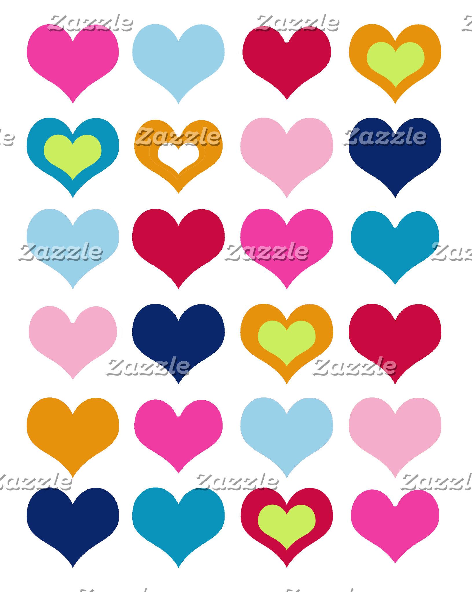 Colorful Valentine Hearts