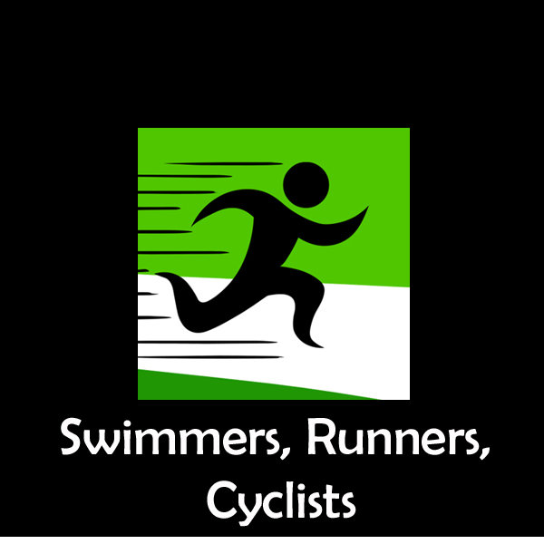 Runners, Swimmers, Cyclists