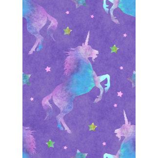 Purple Unicorn Pink Stars
