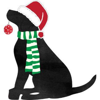 Christmas Black Lab Holiday Dog