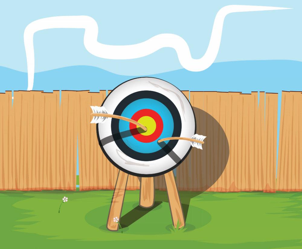 Archery cartoon.