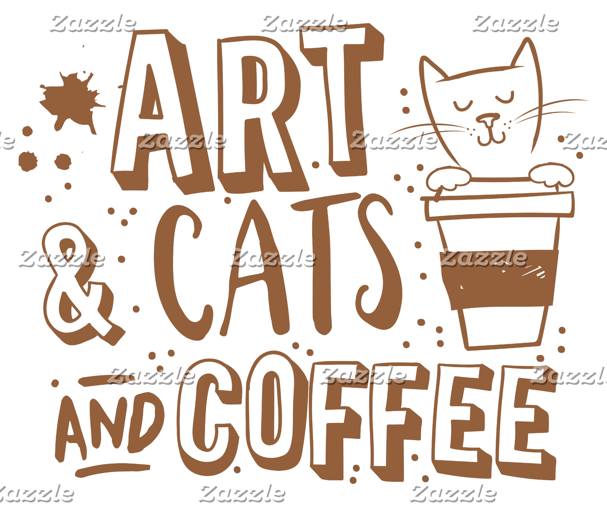 art and cats and coffee