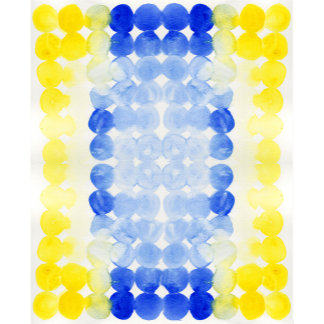 Blue Yellow Watercolor Circles