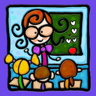 Little Girlie plays school!
