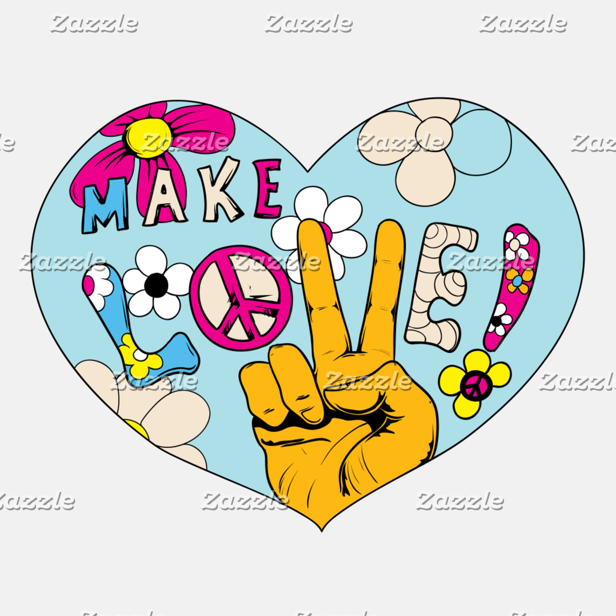 Love Peace Groovy 60s Designs