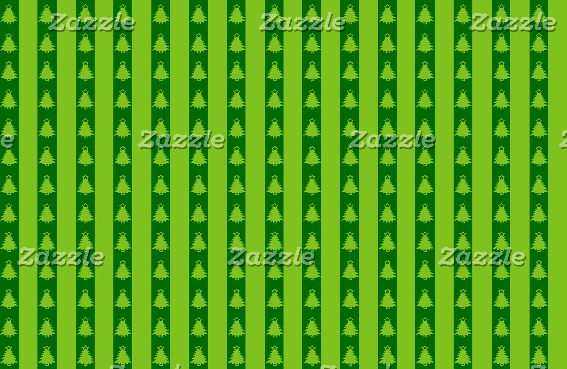 Green Striped Christmas Tree Pattern