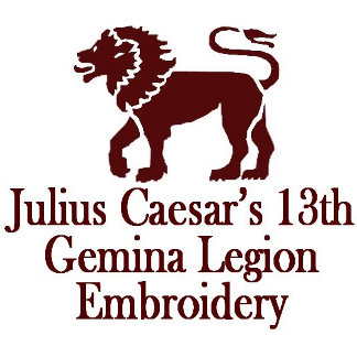 Julius Caesar's 13th Gemina Legion Embroidery
