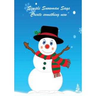 Simple Snowman Says Templates
