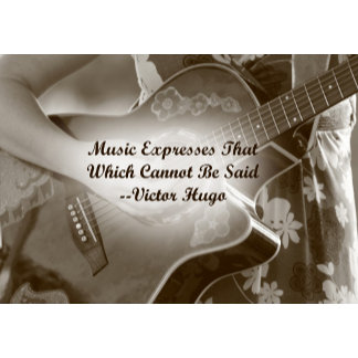 Music Expresses that guitar saying