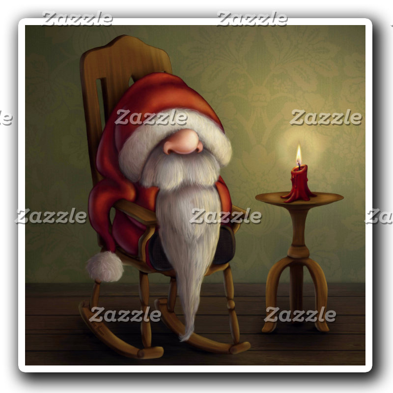 New edit: Little Santa in a rocking chair