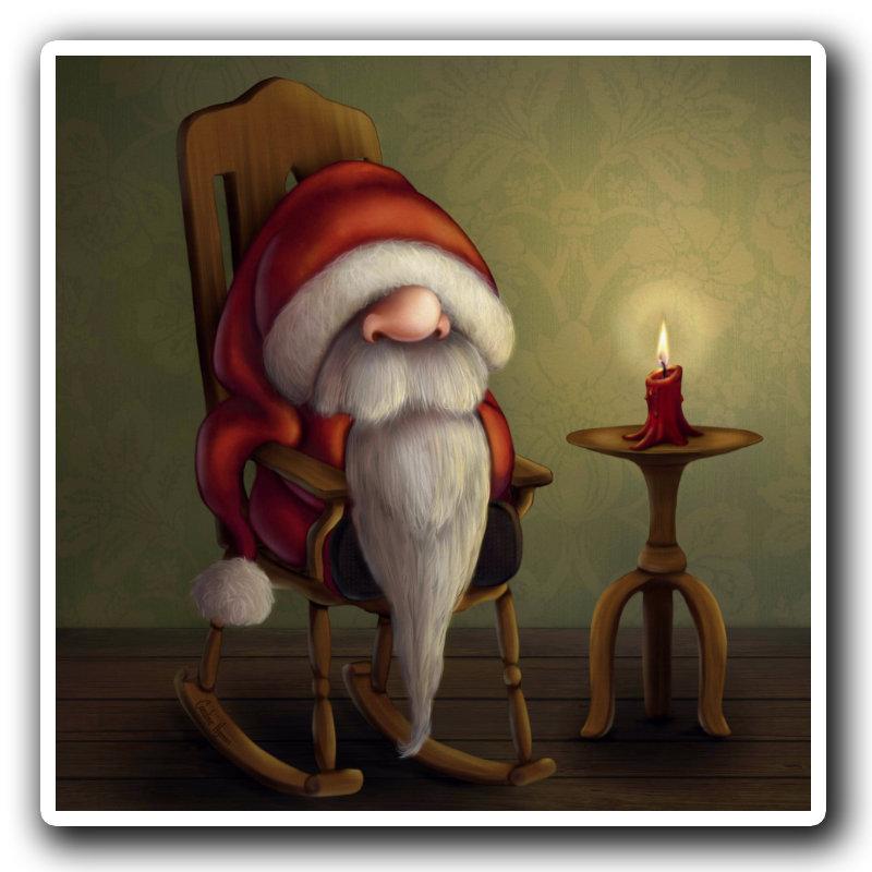 New edit: Little Santa in a rocking chair