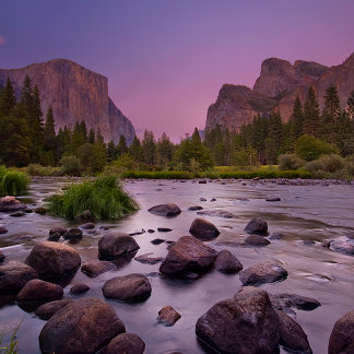 Yosemite National Park at Dusk