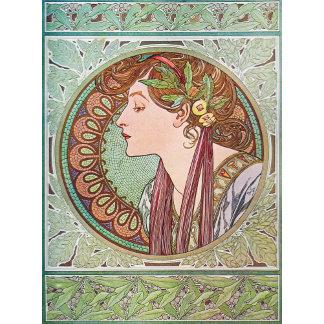 Art Nouveau Green