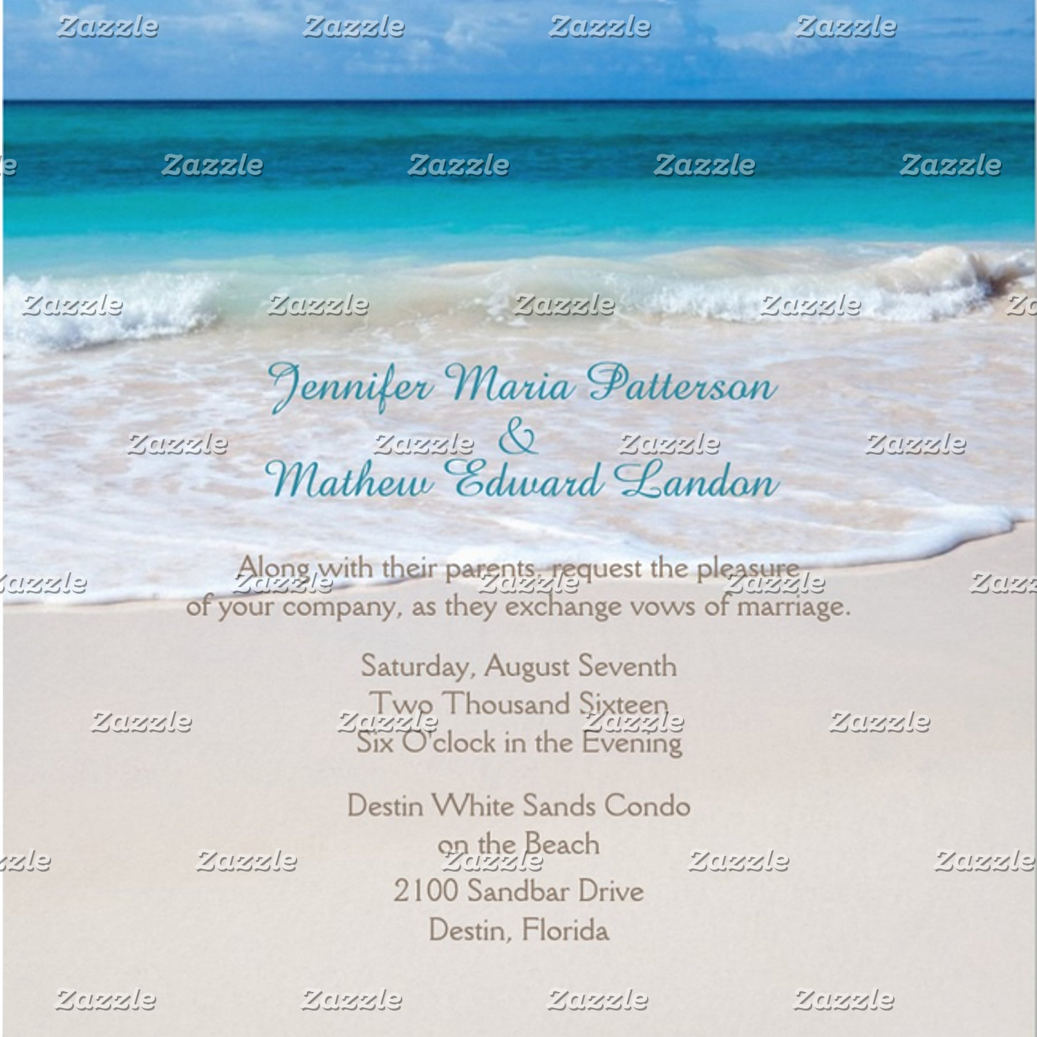 White Beach Wedding