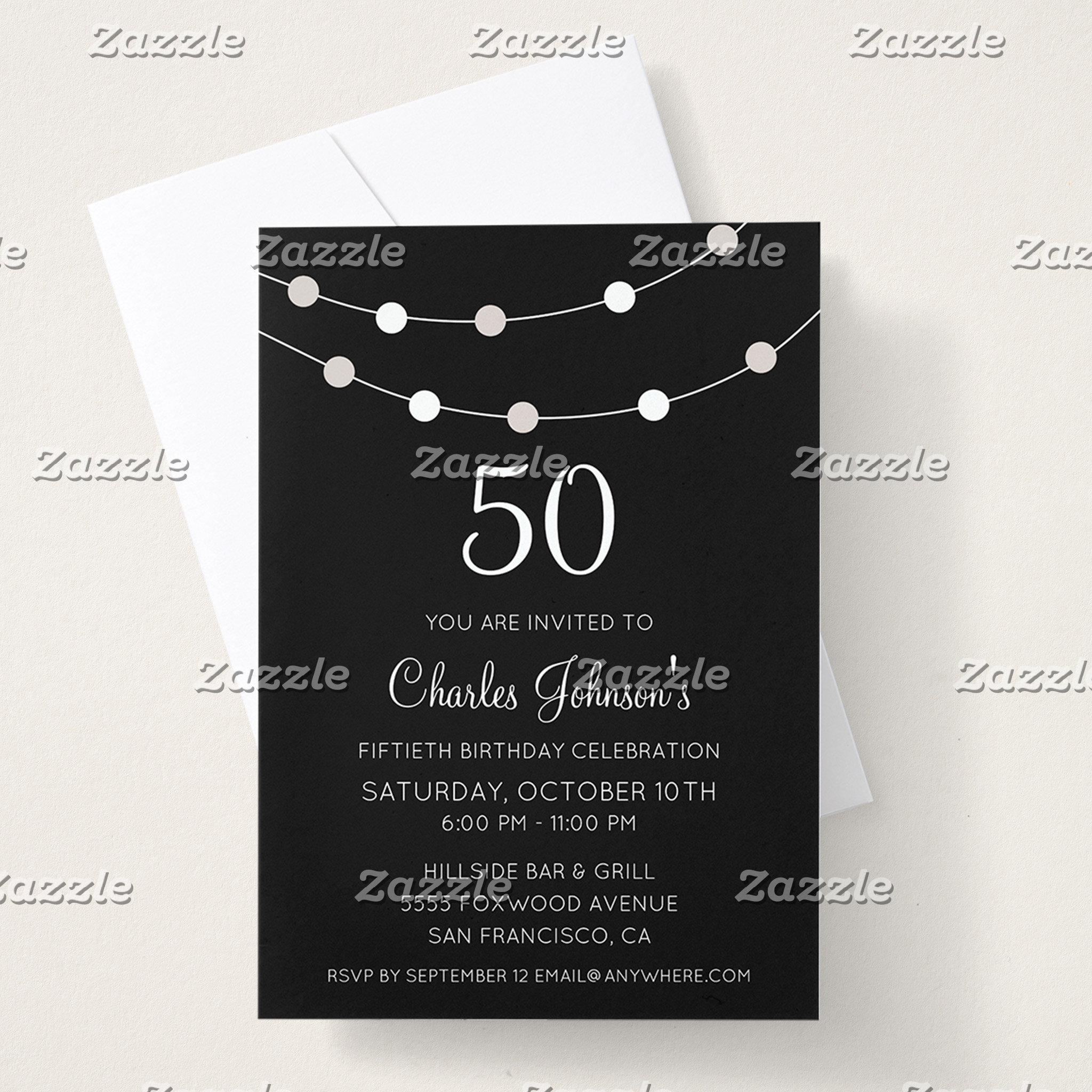 Black & White 50th Birthday